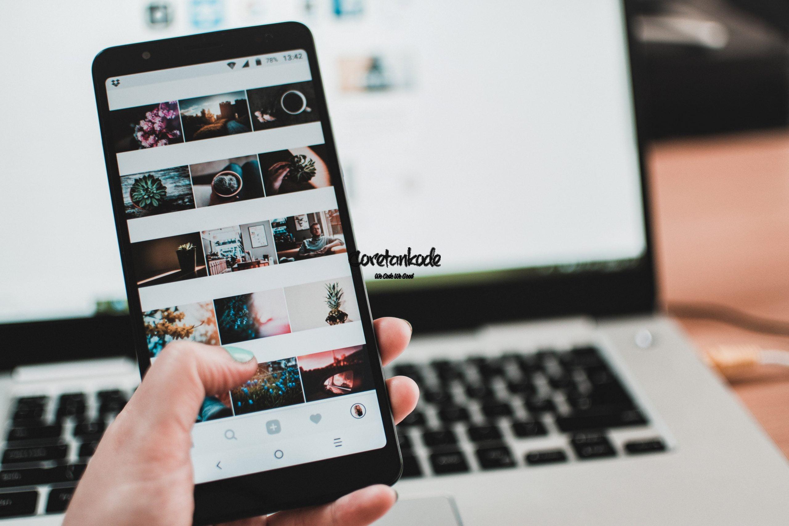 Cara Upload foto dan video instagram di laptop